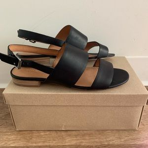 Madewell double strap sling back sandals Elena